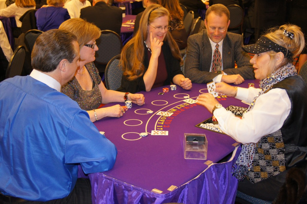 Casino Night Blackjack Dealer Action