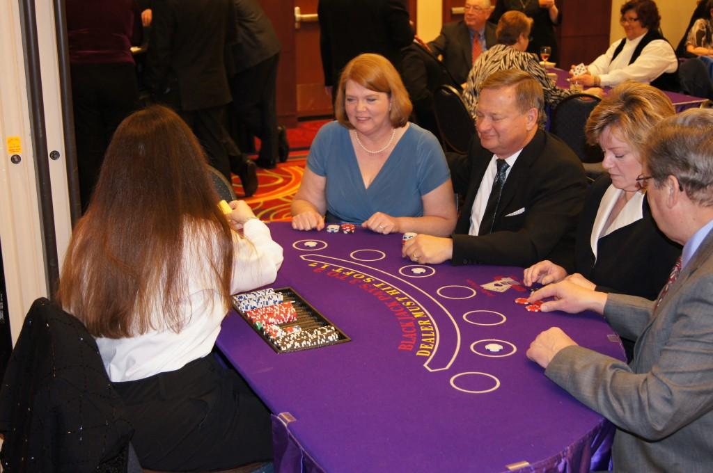 Casino Night Blackjack Dealer Action