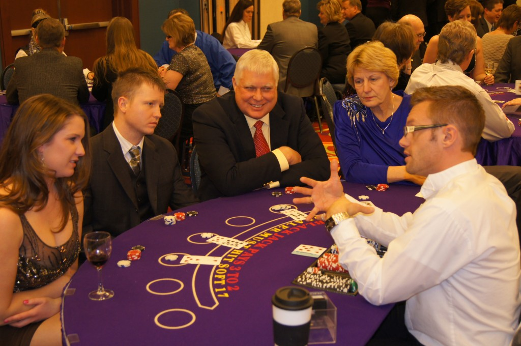 Casino Night Blackjack Dealer Jacks and Aces