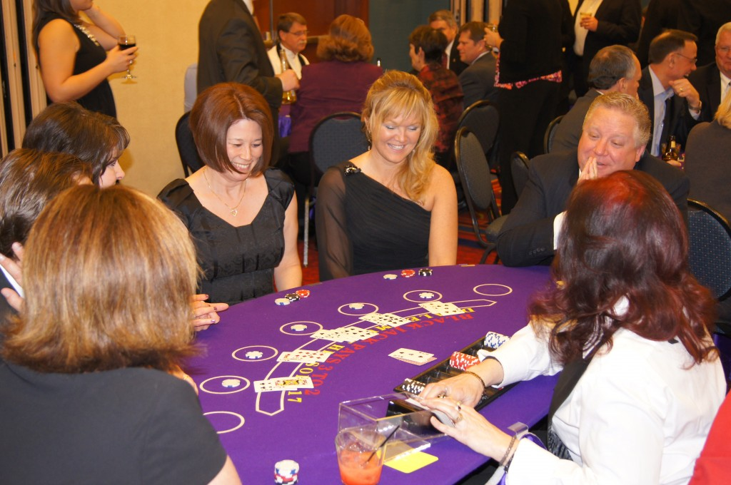 Casino Night Blackjack Table