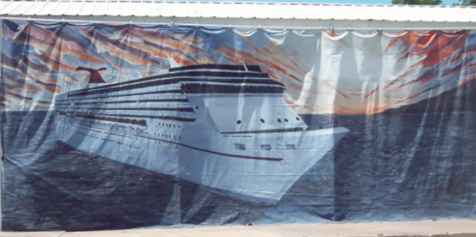 Cruise Ship Backdrop
