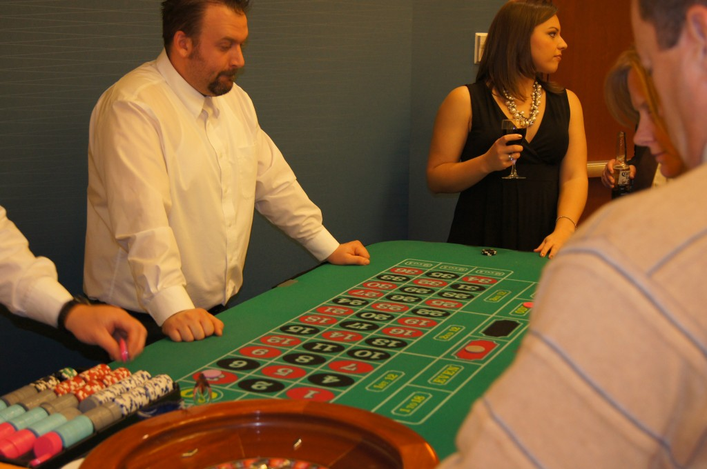 Roulette Table Action - Jacks and Aces Events