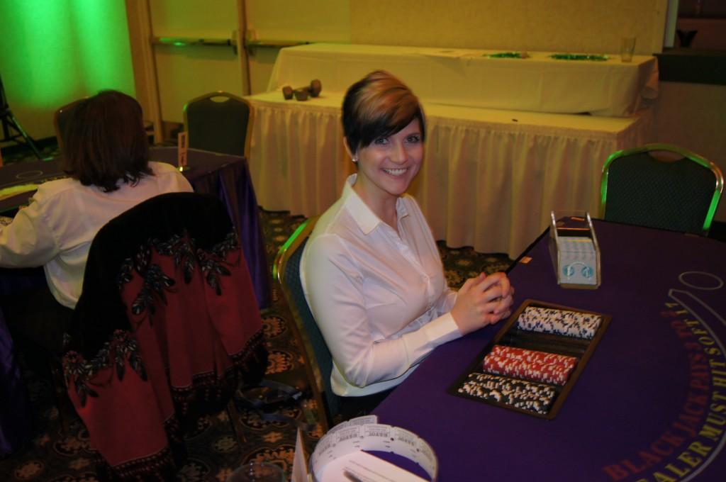 Casino Night Blackjack Dealer