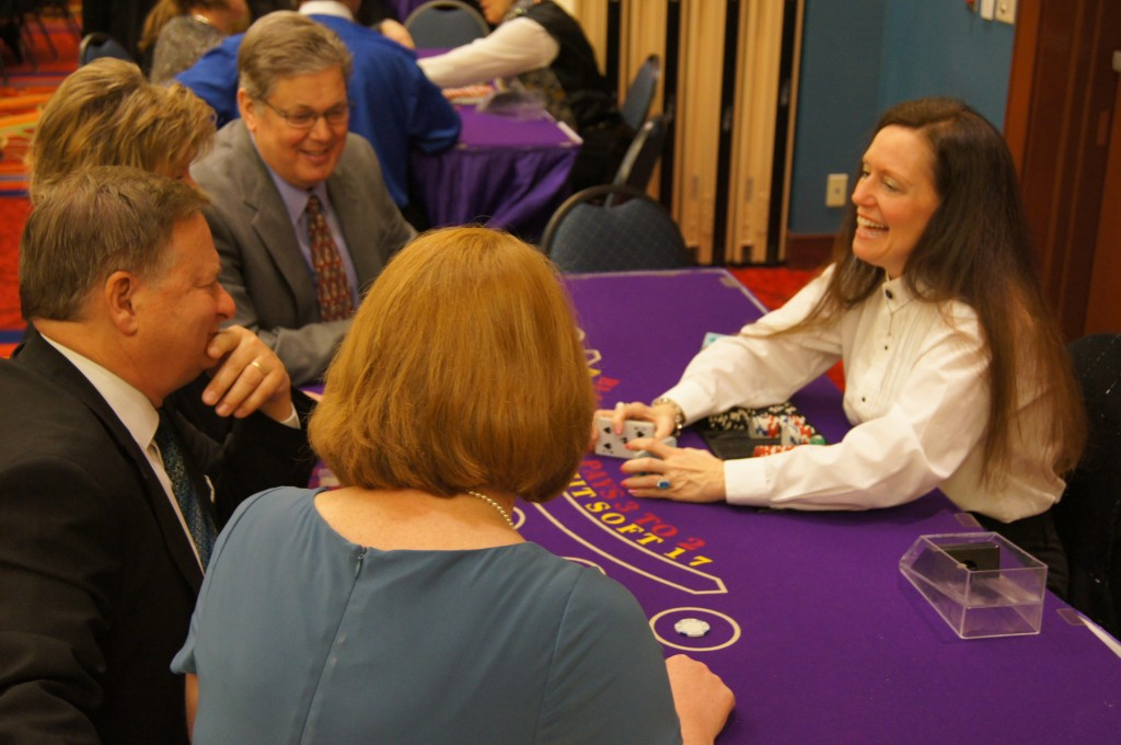 Blackjack Dealer at Casino Night