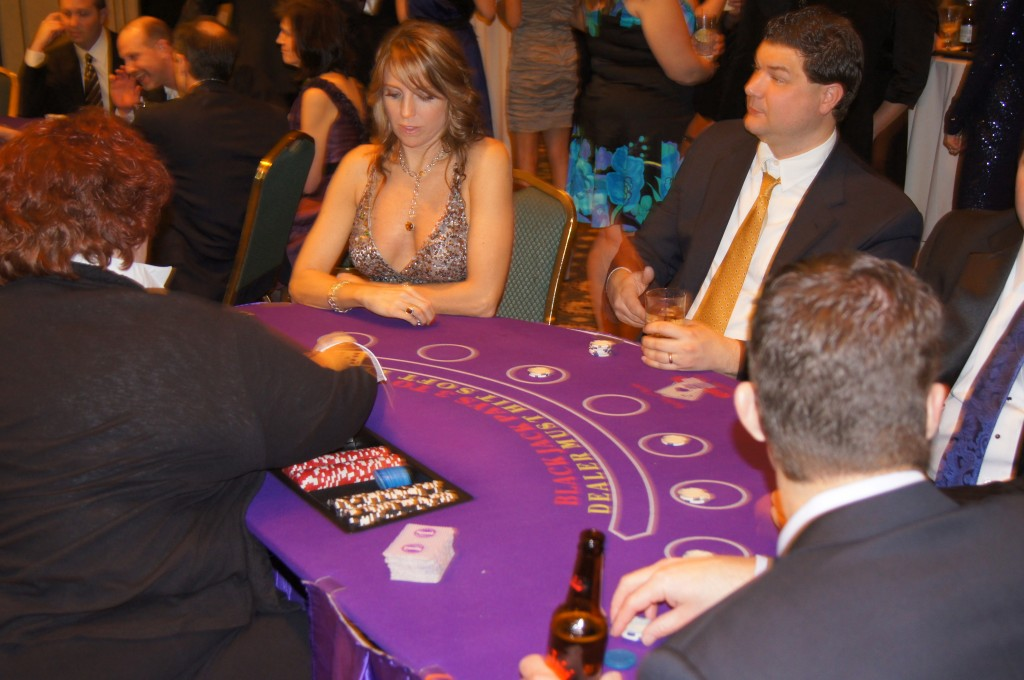 Blackjack Table - Casino Night