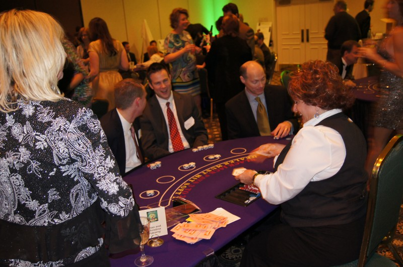 Casino Night Blackjack Table - Winning