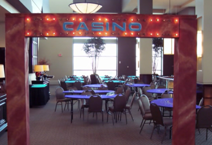 Casino Party Entrance Sign