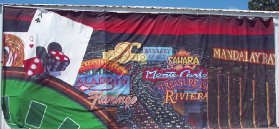 Las Vegas Themed Backdrop