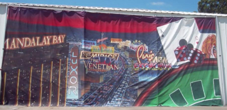 Las Vegas Themed Backdrop 2