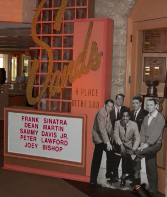 Casino Party Prop - The Sands Rat Pack Standee