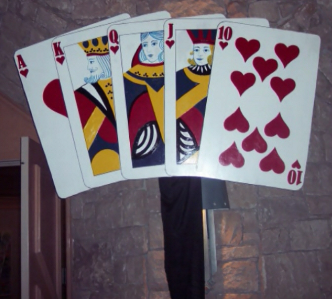 Casino Party Decoration - Large Royal Flush Prop