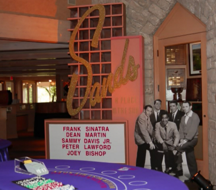 Casino Party Decoration - Sands Rat Pack Prop